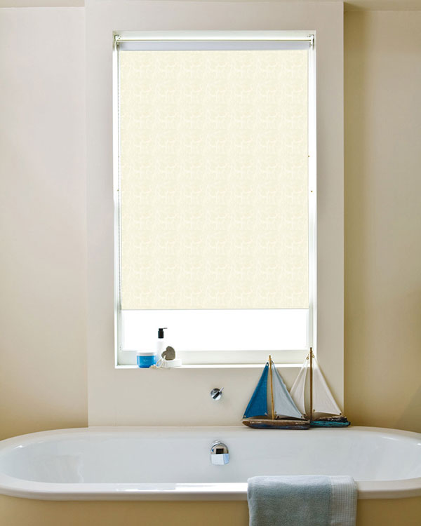 Waterproof Marble White Blackout Blinds
