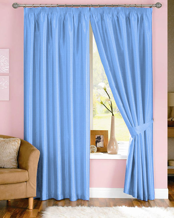 Dahlia Light Blue Curtains