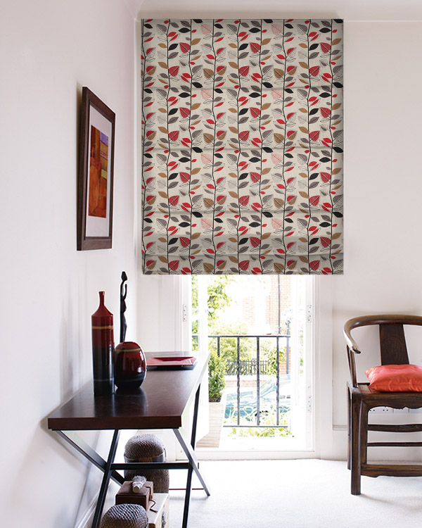 Prestigious Autumn Leaves Red Berry Roman Blinds