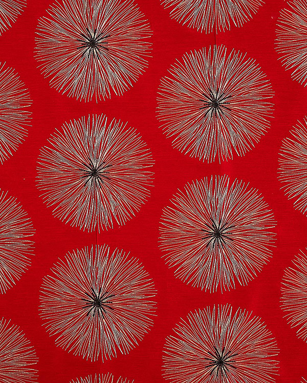 Tissu Glamour Broderie Soleil Sequin Rouge Roman Blinds