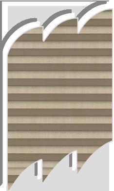 Original dark cream pleated blinds for velux roof windows for Velux ggl 808 dimensions