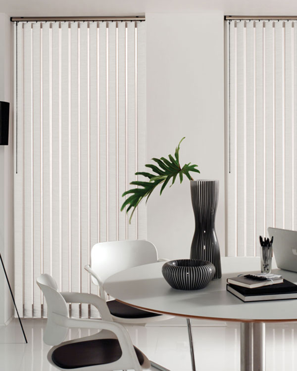 Aztec White Vertical Blinds
