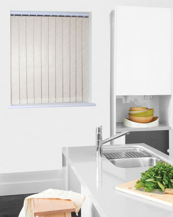 Wipeable Picasso Cream Vertical Blinds