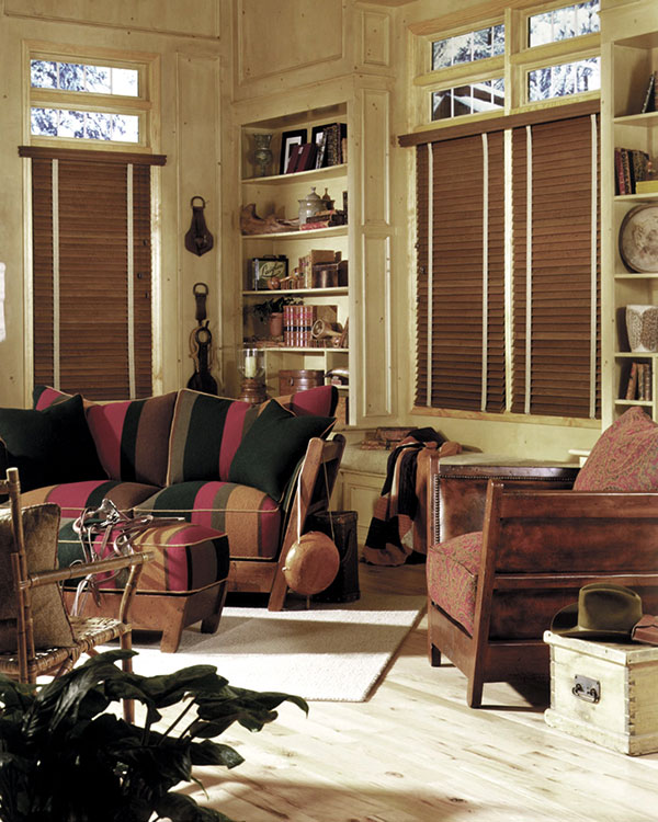 Antique Oak (real Oak) Wooden Blinds