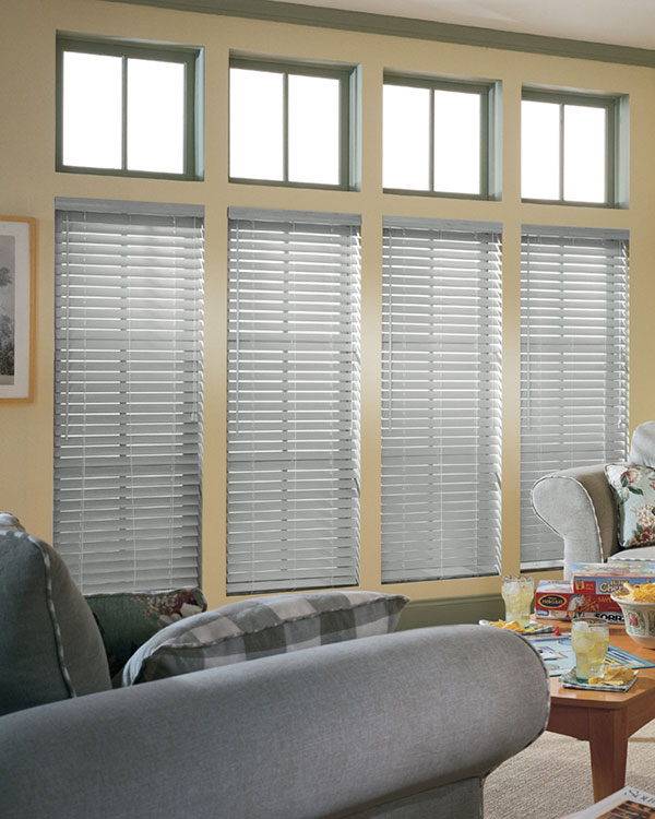 Light Grey Wooden Blinds