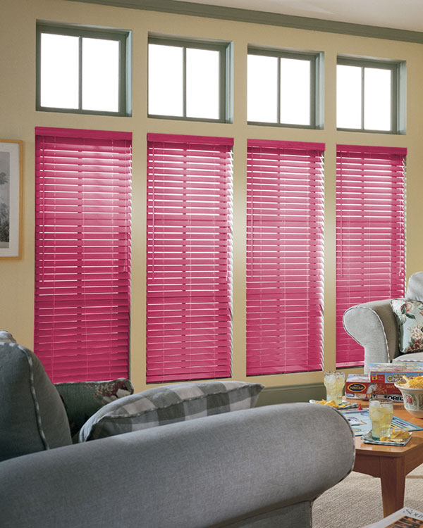 Pink Wooden Blinds