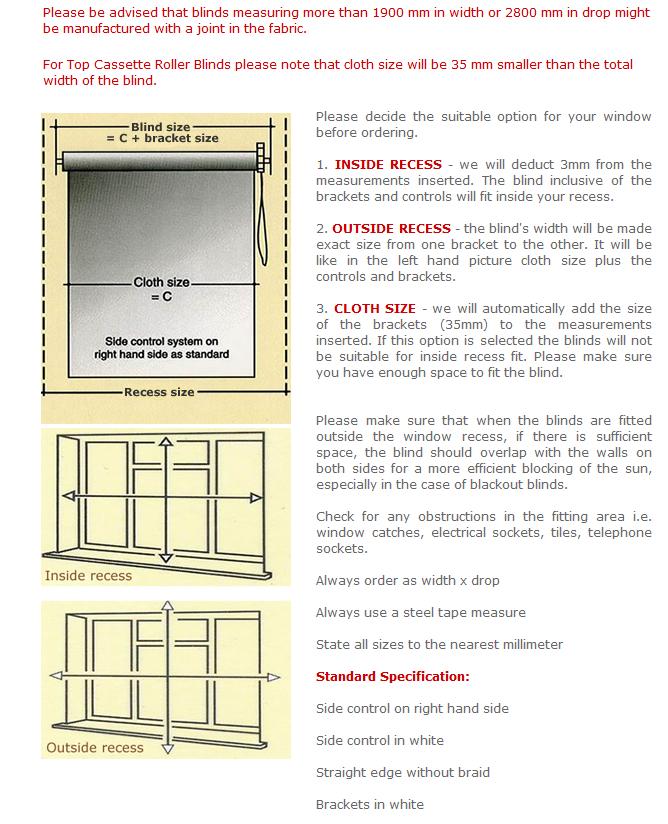 how to measure roller blinds uk guide. Black Bedroom Furniture Sets. Home Design Ideas