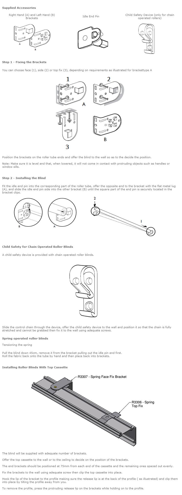 fitting guide for roller style blinds. Black Bedroom Furniture Sets. Home Design Ideas