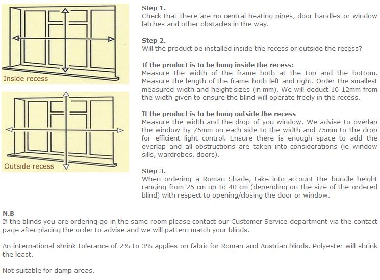 how to measure roman blinds uk guide. Black Bedroom Furniture Sets. Home Design Ideas