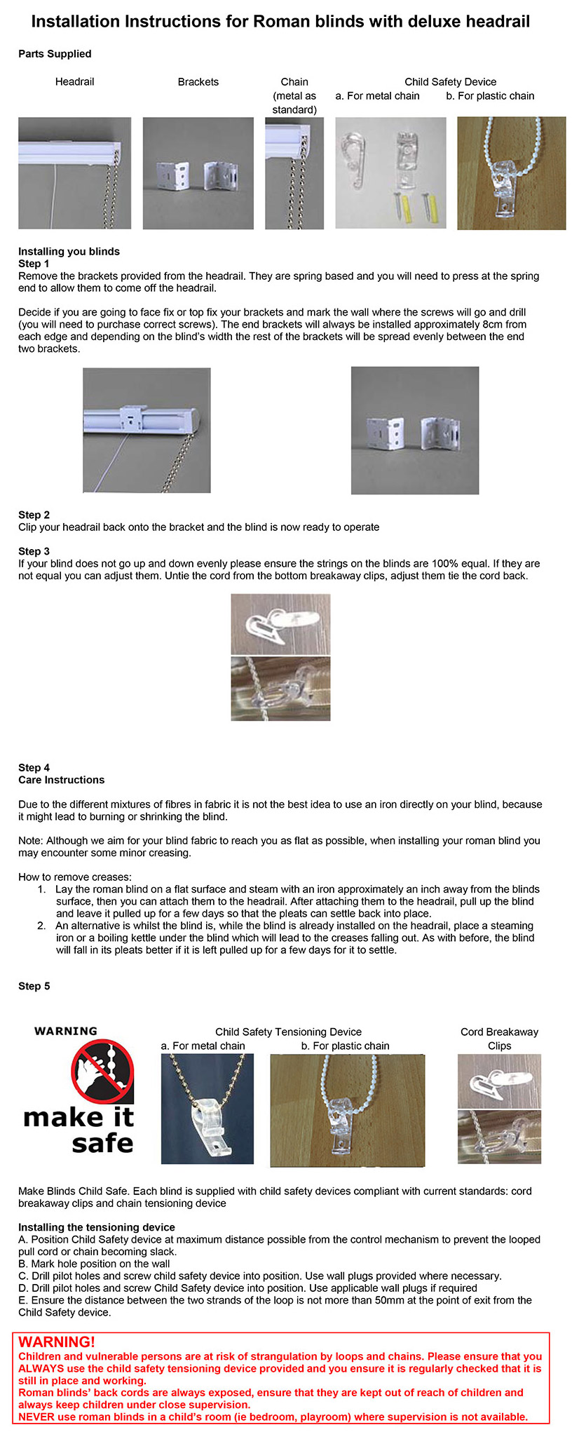 deluxe headrail fitting instructions. Black Bedroom Furniture Sets. Home Design Ideas