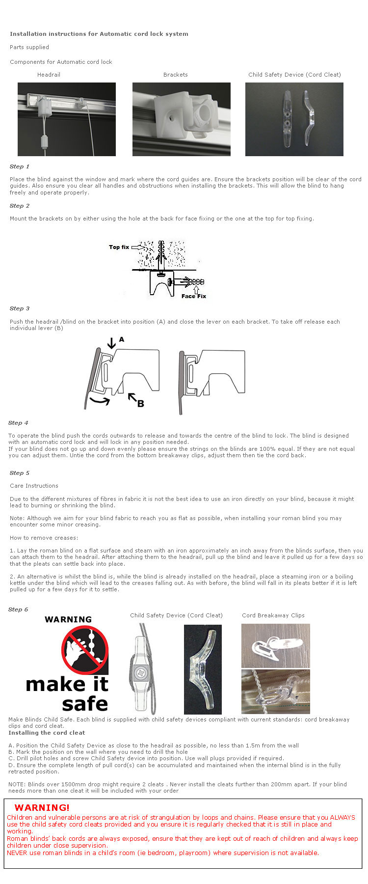 fitting instructions for cord roman blinds. Black Bedroom Furniture Sets. Home Design Ideas