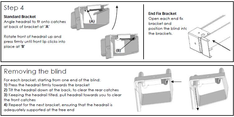 faber venetian blinds fitting instructions